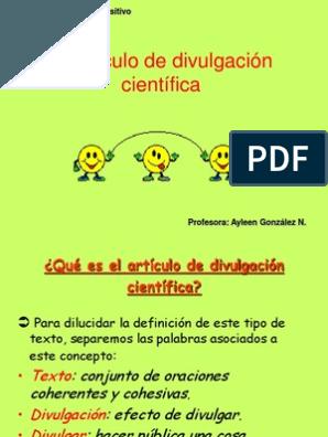 Artículo de divulgación científica
